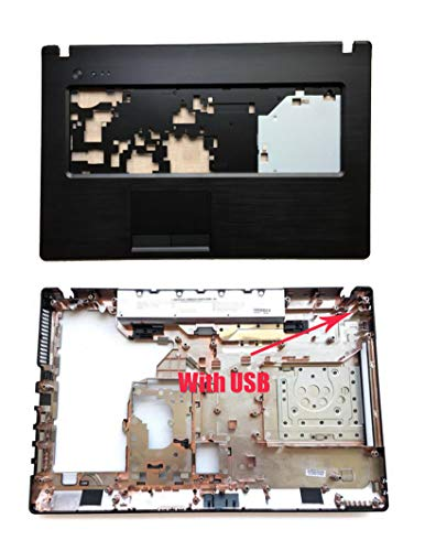 Replacement for LENOVO G770 G780 Series 17.3'' Palmrest Upper Shell & Bottom Case Base Cover Housing (Plastic material of Palmrest)