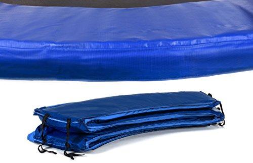Hop-Sport Randabdeckung für das Gartentrampolin 244-490 cm Schutzrand Outdoor Trampolin Umrandung 36cm blau