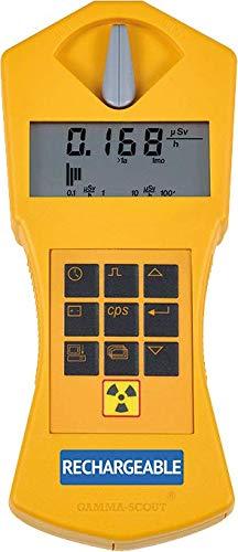 GAMMA-SCOUT Rechargeable   Geigerzähler für Radioaktivität mit wiederaufladbarem Akku, Verwendung als Personendosimeter, inkl. USB-Schnittstelle & Auswertungssoftware