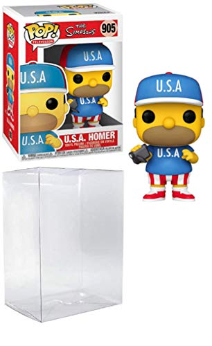 U.S.A. Homer Pop #905 Pop TV: The Simpsons Vinyl Figure (Bundled with EcoTek Protector to Protect Display Box)
