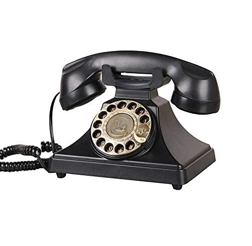FHISD Teléfono Retro Teléfono Fijo Dial Giratorio Réplica Vintage Home Handset Teléfono Antiguo, teléfono de Oficina Teléfono Decoración de la Sala de Estar del hogar, teléfono con Cable