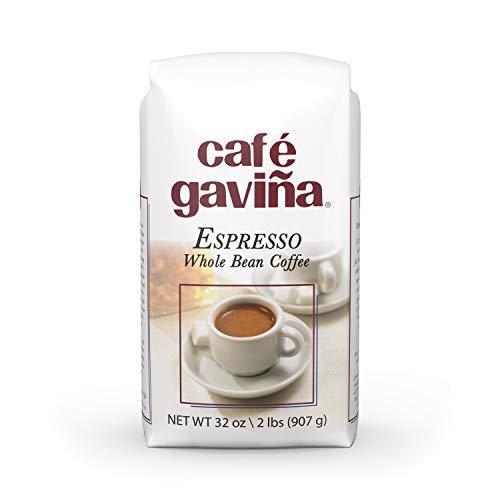 italian coffees Gavina Cafe Espresso, Whole Bean Dark Roast Coffee, 32 Ounce Bag
