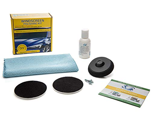 GLASS POLISH 21005 DIY Windshield Polishing Kit, Automotive Glass Polishing Solution