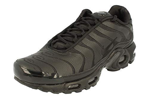 Nike Air Max Plus Mens Running Trainers AJ2029 Sneakers Shoes (UK 9 US 10 EU 44, Black Black Black 001)