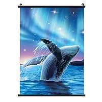 ザトウクジラ 装飾画 アートモダン絵画 玄関に飾る モダンアート キャンバス絵画 壁掛け 部屋飾り