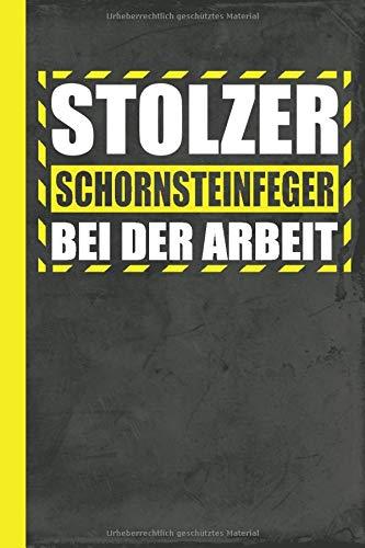 Stolzer Schornsteinfeger bei der Arbeit: Notizbuch A5 Kariert (Schornstein-Reinigung, Band 1)