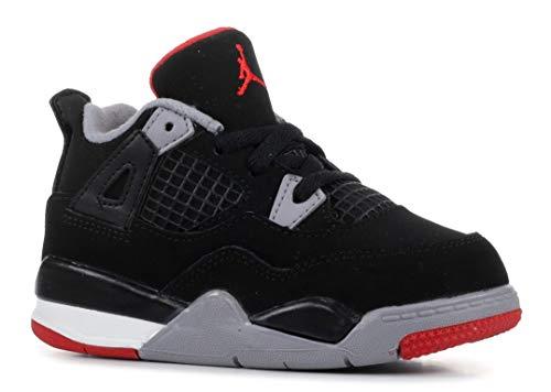 Nike Jordan 4 Retro BRED (Toddler) Black/Fire Red-Cement Grey 4C/19.5 EU