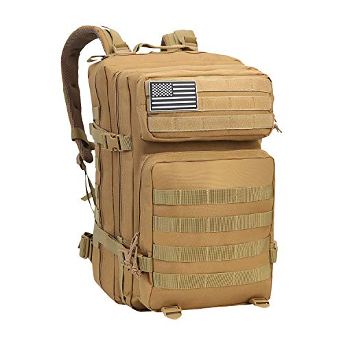 YOMEGO Durable Tactical Backpack Travel Bug-Out Bag Great Tactical Survival Gear for Men and Women, 45L