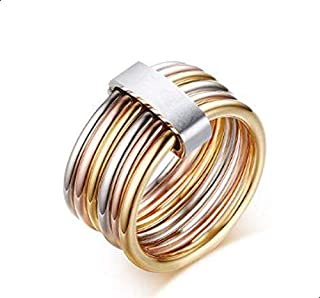 Women's ring size in the form of colored ring 7