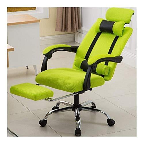DJPP Stühle Schreibtisch Büro Haushalt Computer Elektronische Sportrolle Hebebühne Rollstuhl Fußplatte Stahlgewebe,Grün