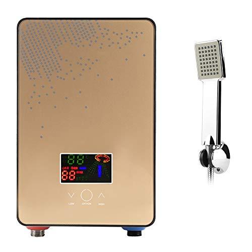 Calentador de Agua sin Tanque Electrico 220V Calentador de Agua de Ducha Instantaneo Suministros de Bano con Tecnologia de Temperatura de Auto-modulacion