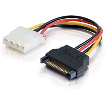 C2G 10149 15-Pin Serial ATA Male to LP4 Female Power Cable (6 Inch)