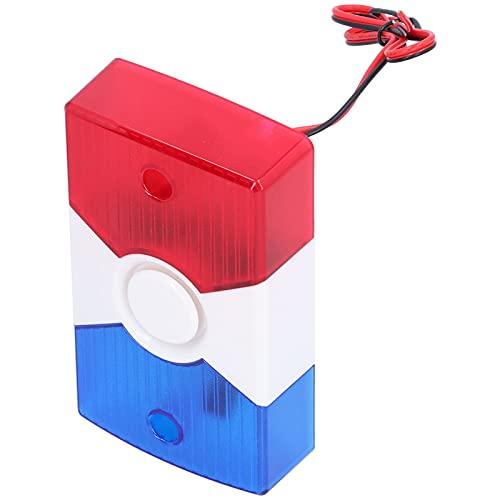 Sensore antincendio per capannoni industriali, sirena stroboscopica di avvertimento LED multifunzione Allarme antincendio per capannoni industriali per cantieri edili per hotel