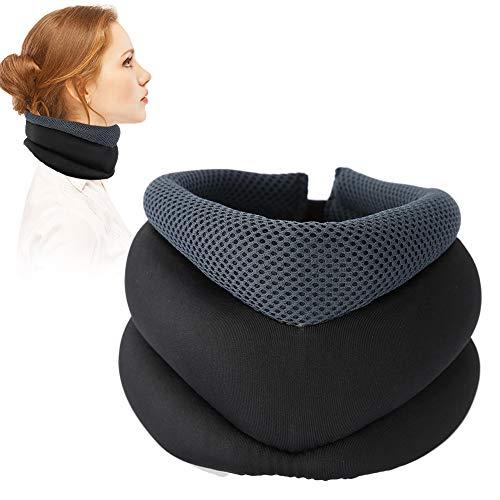 TMISHION Hals Traction, Hals Traction-apparaat voor de oriëntatie van de wervelkolom hals voor nekkussen, om rug- en schouderpijn te verlichten (02# Tipo de calento por terapia magnética)