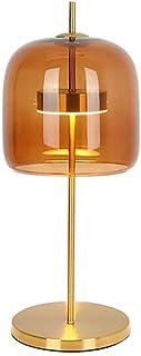 ZRL Lampes Table Moderne Lampe de Table Fer Lampe de Bureau avec Verre Abat-Jour Lampe de Table for Chambre, Filles Chambr...