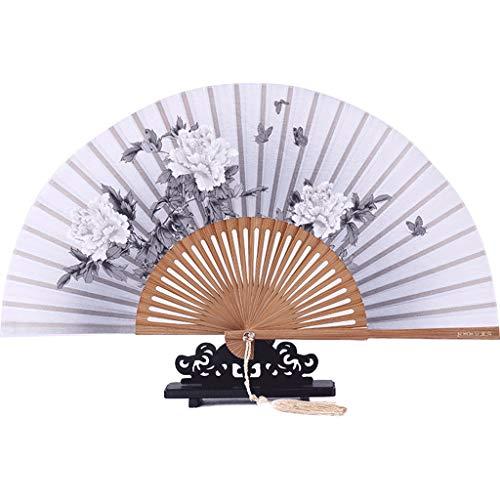 ventilador Ventilador plegable de mano estilo tradicional chino de seda pequeño ventilador de seda del ventilador Mujer antiguo ventilador ventilador del regalo Accesorios para fotos, combinación de d