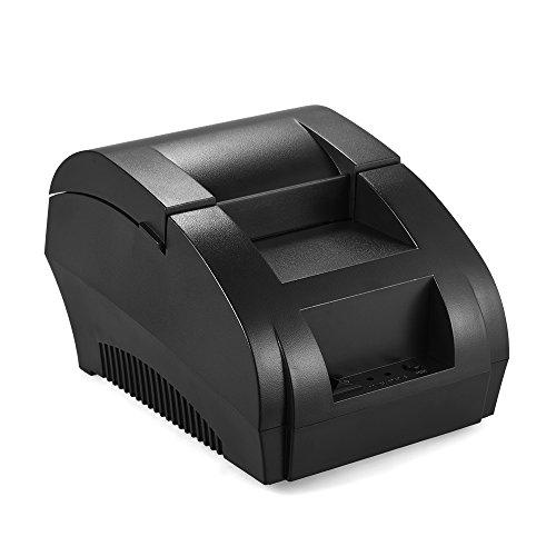 KKmoon pos-5890 K 58 mm USB Impresora de Recibos de impresión Bill biglietteria pos Cash Drawer Restaurante al Detalle (58mm,USB)