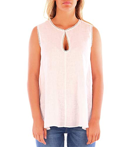 Caractere D266 Top Donna Bianco 44