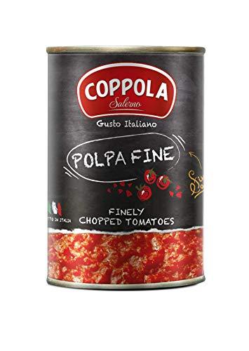 Coppola Polpa Fine, Tomates Finemente Picados - Sin sal añadido 400g (Caja de 12)