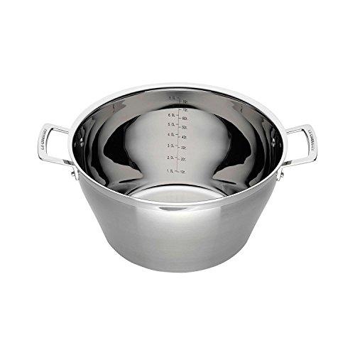 Le Creuset 3-Ply Cazuela para mermelada, Ø 30 cm, acero inoxidable, volumen 9,3 L, para todo tipo de fuentes de calor (incl. inducción), metálico