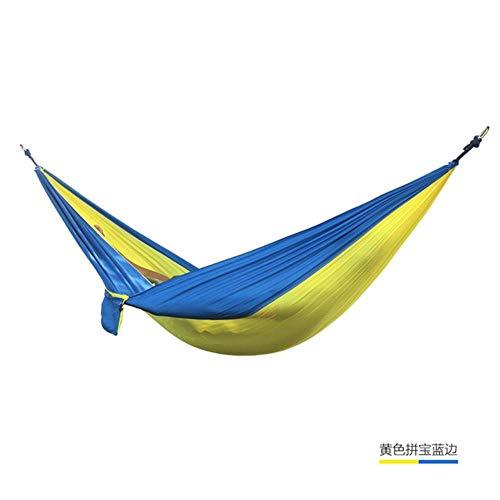 Outdoor dubbele hangmat draagbare parachutedoek 2-persoons tuin hangstoel Slaapreis Schommel, donker kaki
