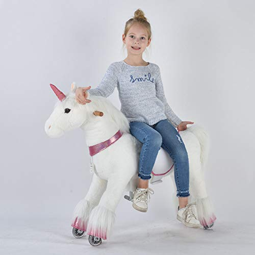 UFREE Horse, Action Pony, Ride on Toy, Medium Moving Rocking Horse, Giddyup, Go Go, Pony 36