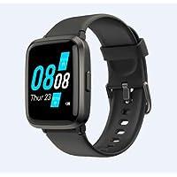 Arrealer Smart Watch Black Fitness Tracker Blood Pressure Monitor