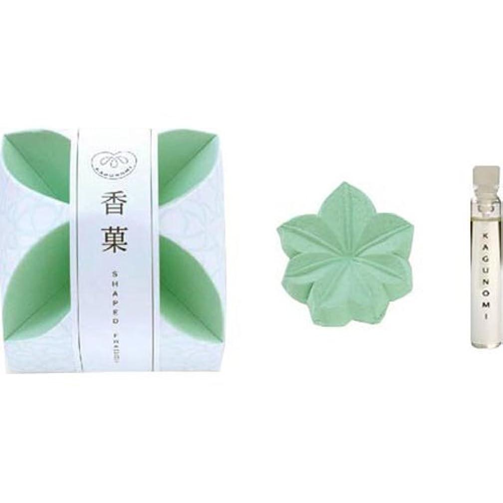 神経障害ワックス概念香菓 もみじ形(緑色)1入 オイル付