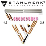 <span class='highlight'><span class='highlight'>STAHLWERK</span></span> WP-26 TIG welding consumables kit: collets   collets body   gas nozzles   tungsten electrodes for WP SR Binzel 17 18 26 TIG Welding Torches, Set of 36 pcs.