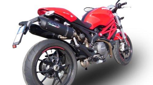 Ducati Monster 696 2009/13 Coppia Di Scarichi Gpr Omologato Serie Furore Nero Con Db Killer Estraibile, Terminale Con Raccordo Specifico
