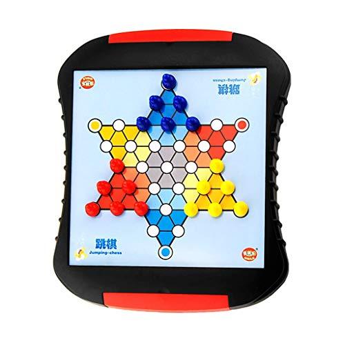 WEIFAN CAI-Chinese Checkers Checkers Set - Magnetschubladenbrett, Puzzle Freizeitspielzeug, Multiplayer Checkers, Geschenke Gifts 25.8x22x3cm