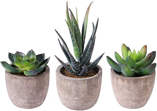 Pots de Fleurs 3pcs Faux décoratifs Faux de Simulation artifulente artifulente artifulente ZSMFCD (Color : Green)