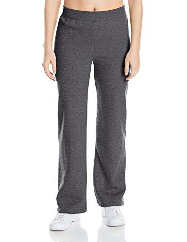 Hanes womens ComfortSoft EcoSmart Women's REGULAR Open Bottom Leg Sweatpants Slate Heather Large