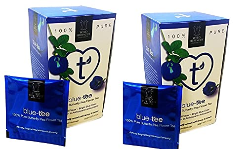 Wild Hibiscus Blue-Tee 100% Pure Butterfly Pea Flower Tea - 1.1 oz (2-Pack)