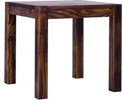 Brasilmöbel Esstisch Rio Kanto 80x80 cm Eiche antik Pinie Massivholz Größe und Farbe wählbar Esszimmertisch Küchentisch Holztisch Echtholz vorgerichtet für Ansteckplatten Tisch ausziehbar