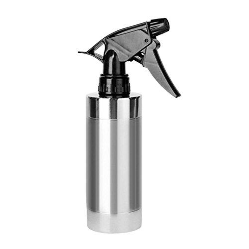 Chengstore en Acier Inoxydable Flacon Spray 280 ML Pulvérisateur Manuel à Pression Jardin Arrosoir Beauté Fleur Plante Feuilles Jardin Bouilloire