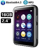 CCHKFEI Lettore MP3 Bluetooth da 16 GB, con touch screen da 2,4 pollici, lettore musicale ...