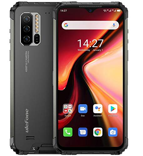 Ulefone Armor 7【2020】 Móvil Resistente,Helio P90 Octa Core 8GB RAM + 128GB ROM, Android 10 IP68 Robusto Teléfono,Cámara 48MP, Pantalla FHD+ 6.3'', Batería 5500mAh, Carga Inalámbrica Qi 10W, NFC GPS