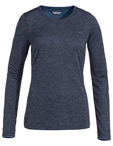 VAUDE Damen T-shirt Women's Essential LS Shirt, Langarmshirt zum Wandern, eclipse, 44, 413167500440