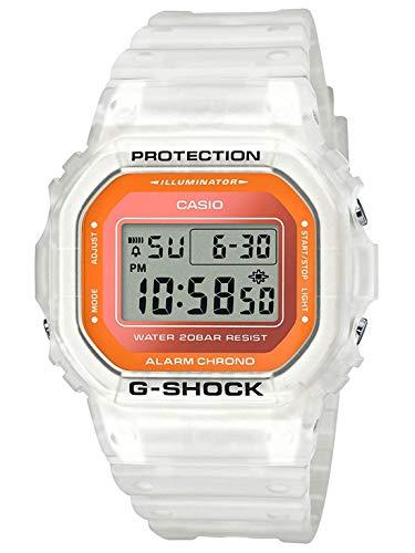 Casio G-Shock DW5600LS-7 Fluorescent Color Series White & Orange Square Unisex Watch