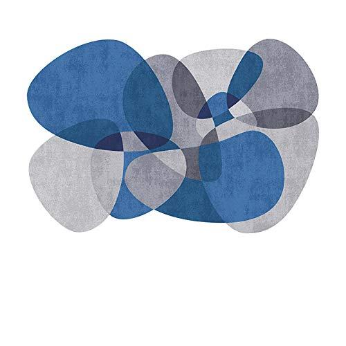 alfombras Salas de Estar Modernas Azul Alfombras dormitorios de Formas Irregulares alfombras Grises Gran salón Sofá Alfombras Suave decoración de la habitación de los niños Alfombrillas