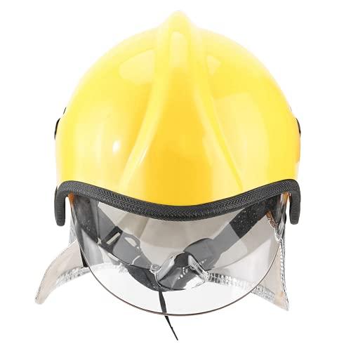 Casco de bombero, casco de seguridad de protección contra la radiación Reduce el impacto Buen diseño de perilla de transmisión para proteger