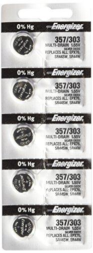 Energizer 357/303 Zero Mercury Batteries , 12 Pack