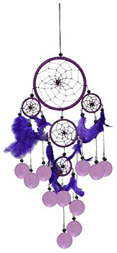 Dreamcatcher Nylon mit Capisscheiben, Farbe:lila