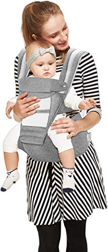 R for Rabbit Upsy Daisy Hip Seat Carrier for Kids of 6 Months to 2 Years (Grey)