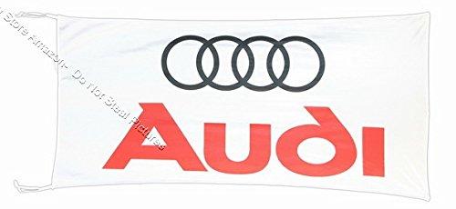 AU-DI Fahne Banner weiß 3 x 1,5 m
