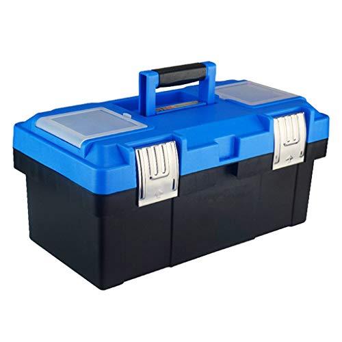 Caja de herramientas Caja de herramientas de plástico con manija cómoda for bandejas y Caja de herramientas de cierre for almacenamiento de piezas de herramientas diarias Maletín de Herramientas Portá