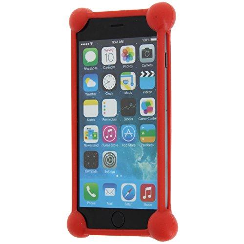 Unbekannt PH26® Schutzhülle für Asus New Padfone A86 stoßfest Silikon rot