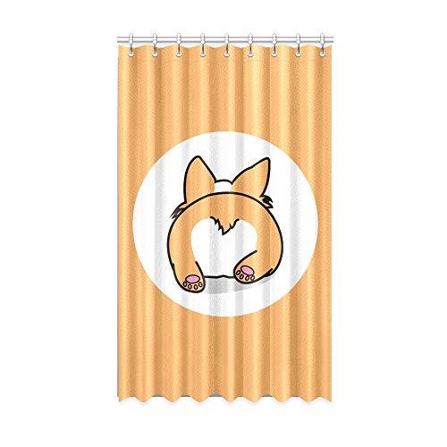 N\A Innenfenster Vorhang niedlichen Hund Hintern lustige Tier Wohnzimmer Verdunkelungsvorhänge 50 x 84 Zoll EIN Stück für Patio Glasschiebetür/Schlafzimmer