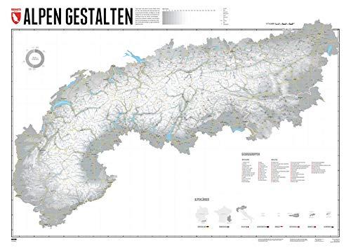 Alpen Gestalten - 140 x 100 cm: Gestalte deine persönlichen Alpenkarte